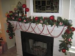 Home Christmas Decorations Pinterest Ideas Feasible Christmas Themed Fireplace Mantel Decorating