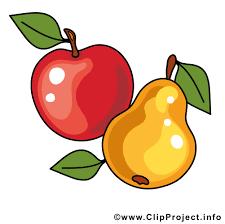 pomme poire image fruits images cliparts fruits et légumes