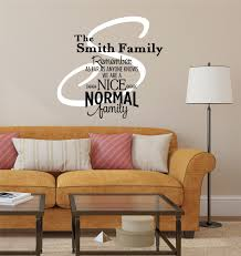 family name wall decals family name decal decor designs decals nice normal personalized wall