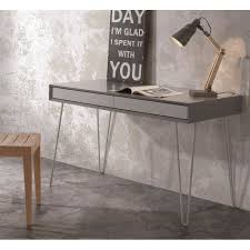 bureau gris laqué bureau design alborg gris mat achat vente bureau bureau design