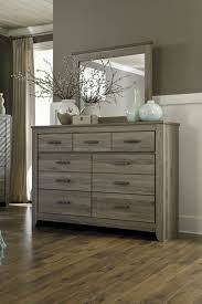 Bedroom Dresser Mirror Furniture Zelen Dresser And Mirror The Home