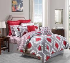 Queen Size Red Comforter Sets Bedroom Beautiful Gray Red Comforter Sets For Queen Bed High