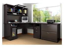 Home Office Furniture Black by Furniture Mainstays L Shaped Desk With Hutch And File Cabinets In