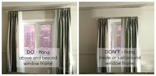 where to hang curtains how to hang curtains the right way