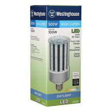 westinghouse 500w equivalent daylight t38 corn cob mogul base led