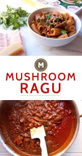 kitchn mushroom ragu on rigatoni macheesmo