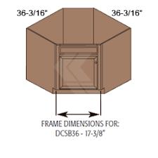 36 corner sink base cabinet dcsb36 shaker maple espresso diagonal corner sink base cabinet 1