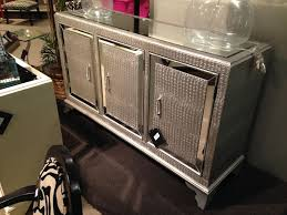hollywood regency mirrored console cabinet dresser table bedroom