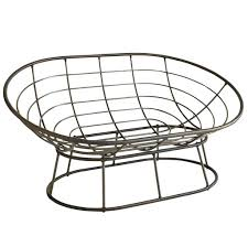 furniture best bamboo and rattan double papasan chair with white
