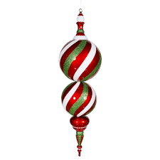 jumbo candy finial peppermint twist doorways by show me
