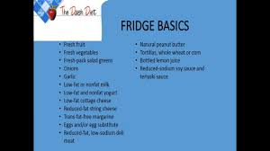 dash diet grocery list youtube