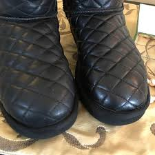 quilted ugg boots sale 50 ugg shoes ugg black quilted leather
