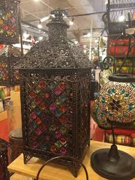 found moroccan jeweled lantern for decor for jewish henna at pier