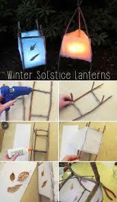 diy winter solstice lanterns pine needles winter solstice and
