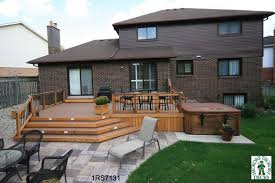 Patio Plans And Designs Backyard Deck Designs Plans Deck Plans With Tubs Decks And