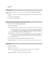 Java Developer Resume Sample by Java Developer Resume 1