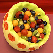 how to make a fruit basket make a honeydew melon basket for a party decoration