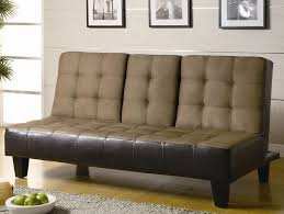 armless futon click sofa bed with cupholder cheap furniture outlet