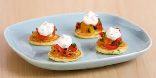 bellini canape mini blini pancakes with lemon chives recipes food canada