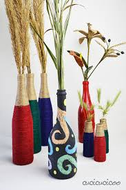 Upcycled Wine Bottles - wine bottle crafts 2 upcycled vases with materials you already