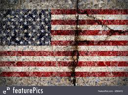 How To Paint American Flag Worn American Flag On Concrete Surface Illustration