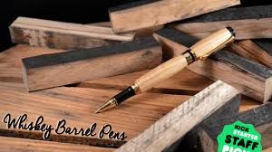 Handcrafted Wooden Pens - handcrafted wood pens made from reclaimed whiskey barrels by