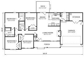 4 bedroom ranch style house plans best open one house plans 4 bedroom floor ranch single with