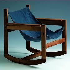 Modern Wooden Rocking Chair Contemporary Armchair Wooden Rocker Pelicano By Michel