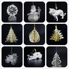 china custom diy 3d tree ornament metal hanging spinners
