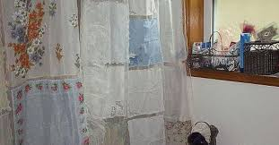 Shower Curtain With Pockets Shower Curtains From 4 Generations Repurposed Remade And