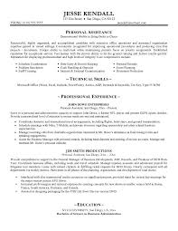 Example Of Technical Skills On Resume by Example Personal Assistant Resume Technical Skills Example