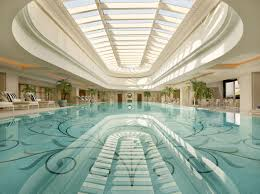 atrium over pool dream home pinterest shanghai swimming