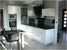 cuisine noir laqué pas cher cuisine équipée blanc laqué conception impressionnante galerie artint
