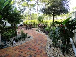 Florida Backyard Landscaping Ideas Florida Landscape Design Ideas Courtyard Features Construction