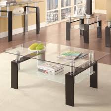 15 ideas of glass and black metal coffee table
