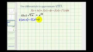 What Is The Square Root Of 1000 by Ex Using Differentials To Approximate The Value Of A Cube Root