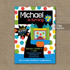 7th birthday invitation bounce house invitations nifty printables