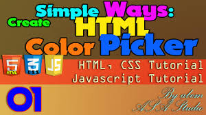 create html color picker simple way 01 video preview