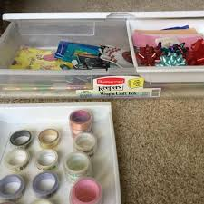 rubbermaid wrap n craft find more rubbermaid wrap n craft storage box w two trays stores