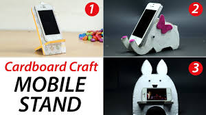 3 diy phone stand cardboard mobile holder craft best out of