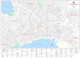 Portland Zip Code Map by Central Business District Maps Kroll Map Company