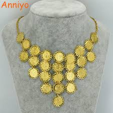 coin necklace gold images Anniyo new design charm arab coin necklace for women gold color jpg