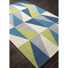 Blue And Green Outdoor Rug Rugada Jaipur Colours Geometric Pattern Polypropylene Blue