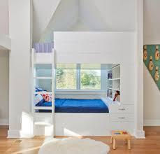 Custom Bunk Bed Kids Traditional With Bookshelf Rectangular - Kids novelty bunk beds