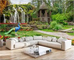 Wall Murals For Living Room Online Get Cheap Garden Mural Aliexpress Com Alibaba Group