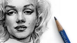 how to draw marilyn monroe with pencil youtube