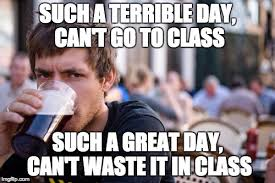 Lazy College Meme - lazy college senior meme imgflip