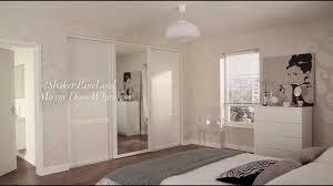 Single Mirror Closet Door Interior Modern Bedroom Decoration Using Mirrored