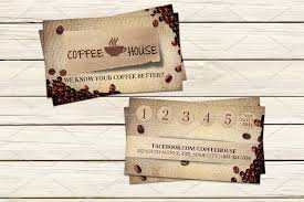coffee shop business card template business card templates
