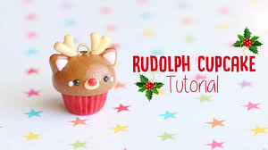 rudolph reindeer cupcake polymer clay christmas tutorial youtube